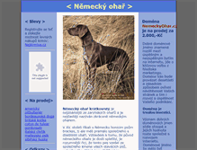 Tablet Preview of nemeckyohar.cz